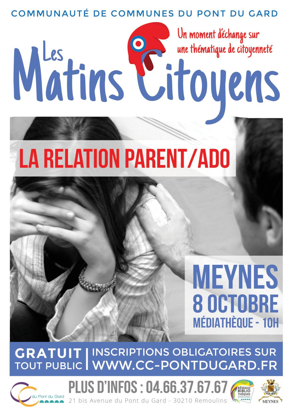 Matin Citoyen : relation parent/ado
