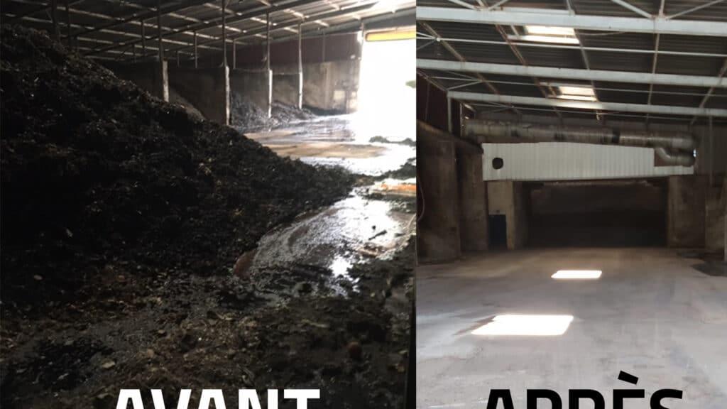 1800 tonnes de compost évacuées