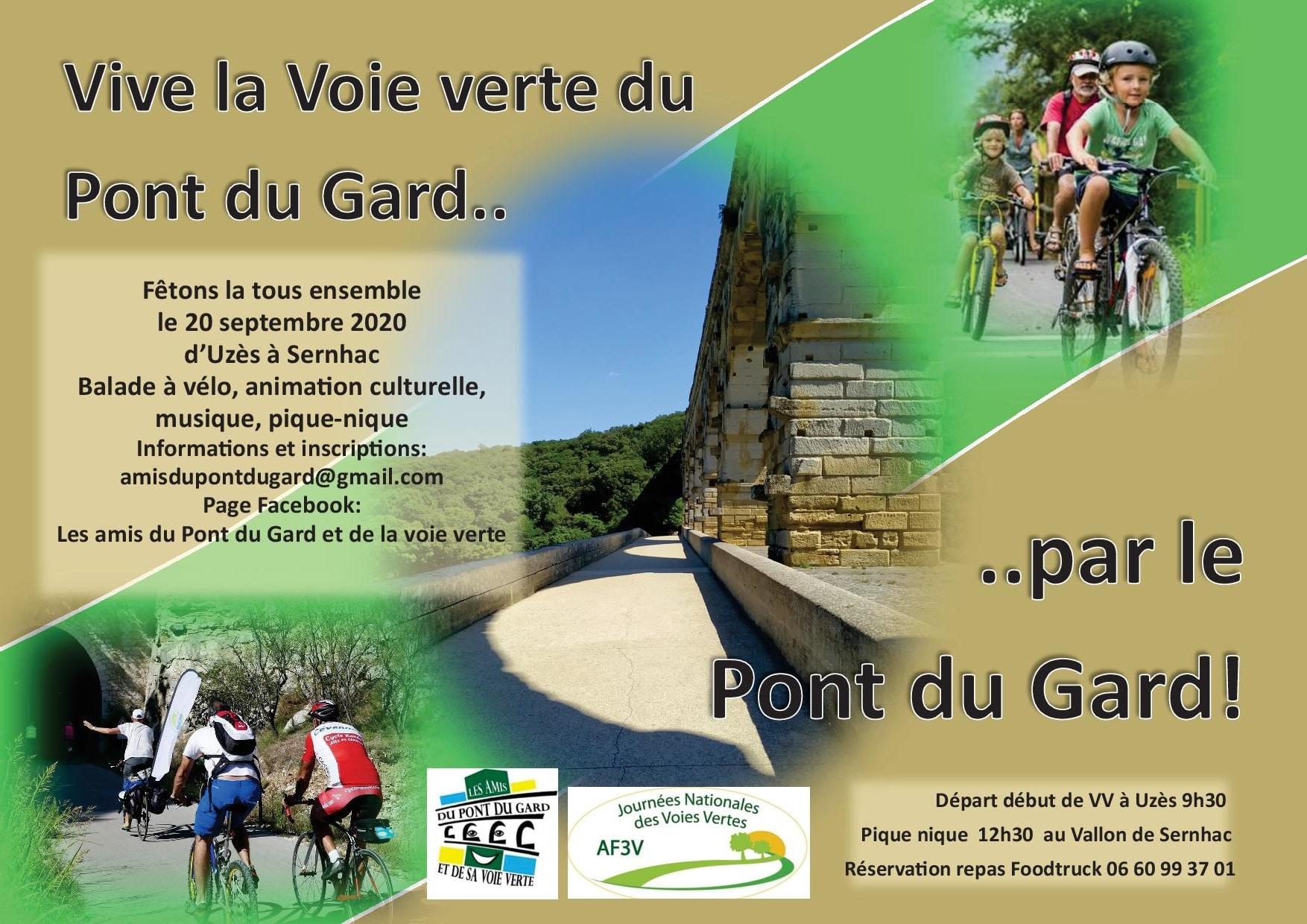Notre inauguration de la voie verte du Pont du Gard