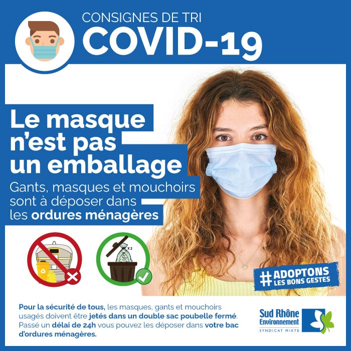 APPEL AU CIVISME : Le masque n'est pas un emballage!
