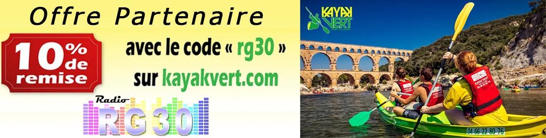 10% de remise sur kayakvert.com avec le code rg30