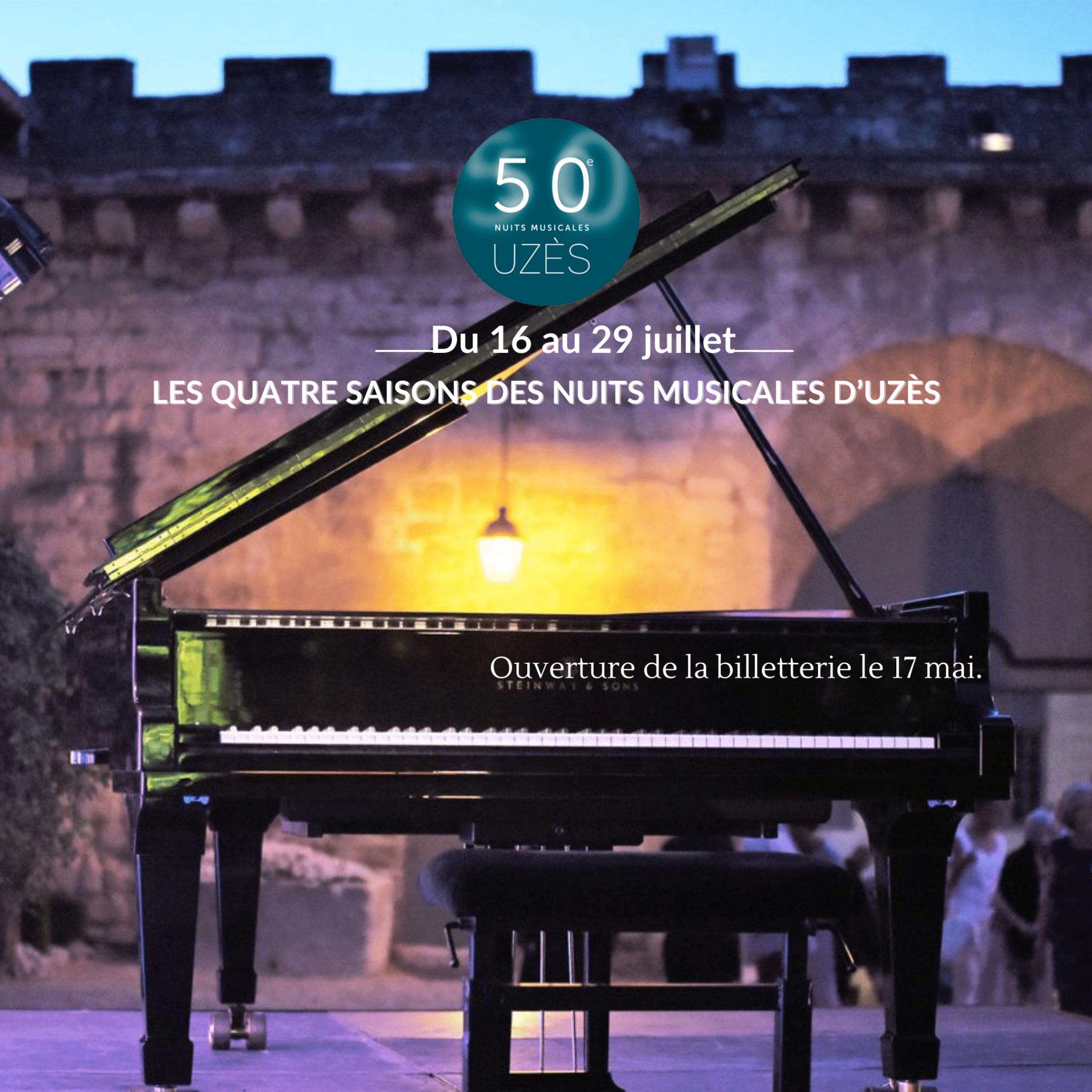 50e édition des Nuits Musicales d'Uzès