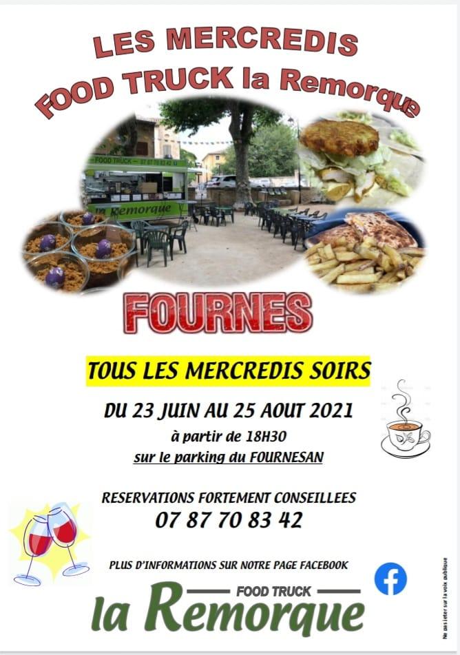 Les mercredis Food Truck La Remorque