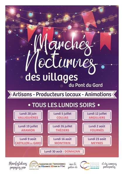 Marchés Nocturnes des villages du Pont du Gard