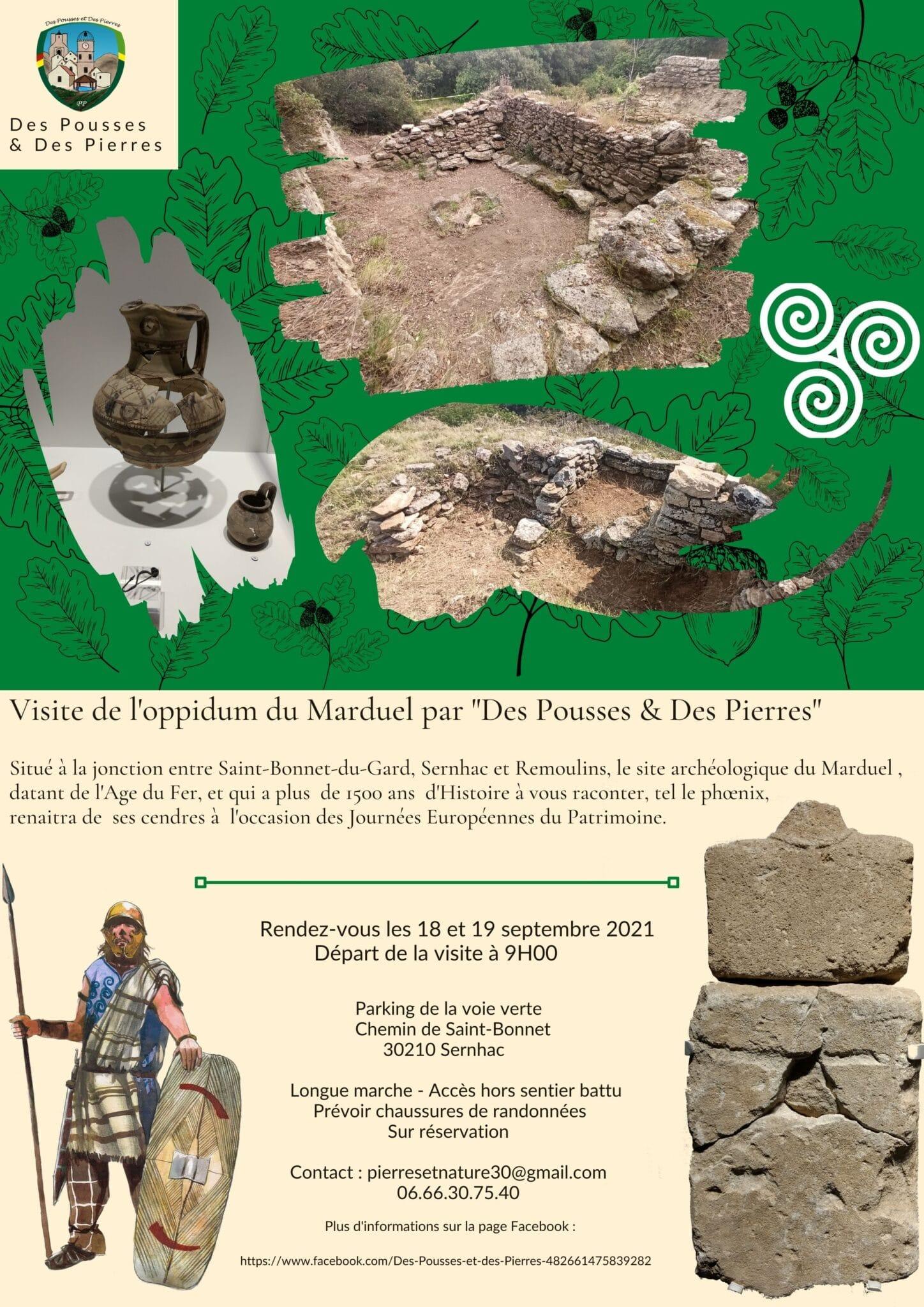 """Journées Européennes du Patrimoine : Visite de l'oppidum du Marduel par """"Des Pousses & Des Pierres"""""""