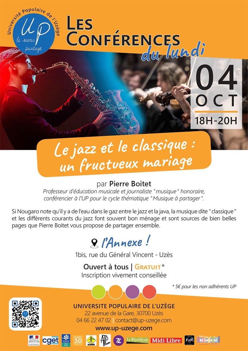 """Conférence """"Le jazz et le classique : un fructueux mariage"""""""